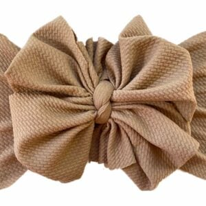 Chocolate Mousse Messy Bow Headwrap
