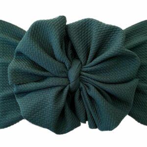 Hunter Green Messy Bow Headwrap