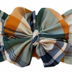 Hunter Plaid Messy Bow Headwrap