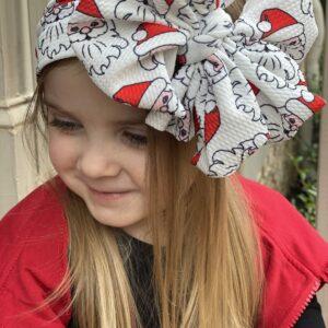 Santa Messy Bow Headwrap