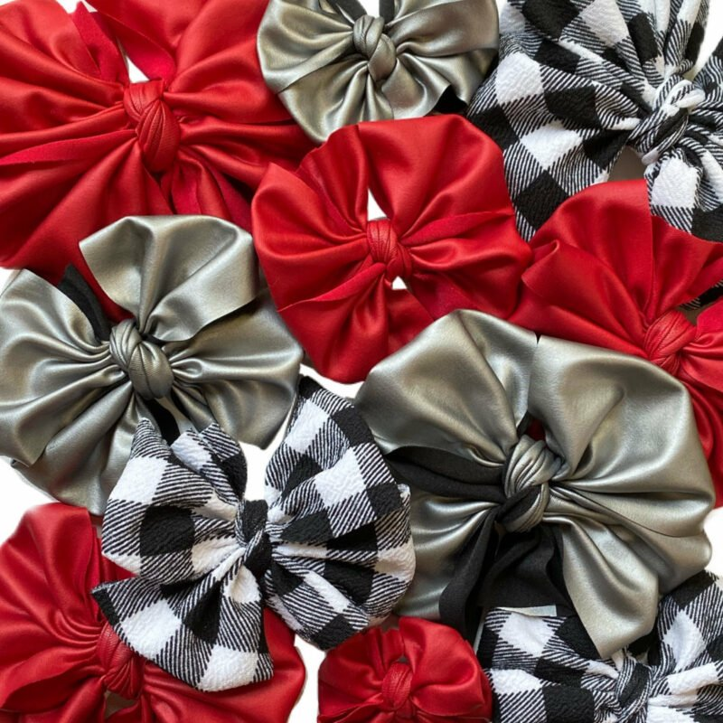 Black and White Check Messy Bow Headwrap