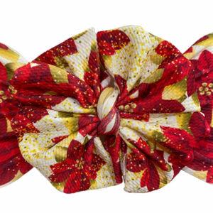 Poinsettia Messy Bow Headwrap