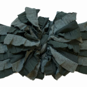 Evergreen Ruffle Messy Bow Headwrap