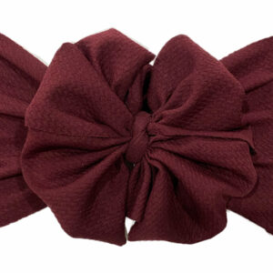 Wine Messy Bow Headwrap