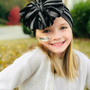 Charcoal Messy Bow Headwrap