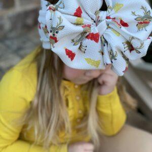 Reindeer Messy Bow Headwrap