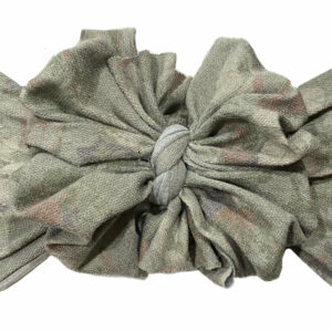Vintage Floral Messy Bow Headwrap
