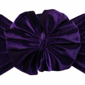 Purple Velvet Messy Bow Headwrap
